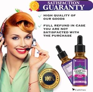 Cultivax Hemp Oil Satisfaction Guaranteed