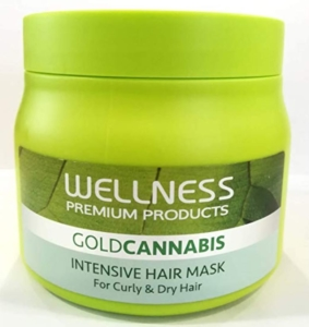 Gold Cannabis Hair Mask