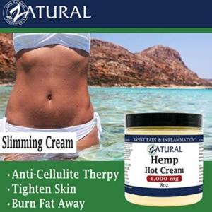 Zatural Hemp Hot Cream For Cellulite