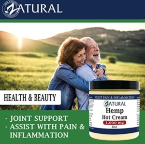 Zatural Hot Hemp Cream For Pain
