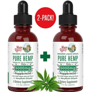 Mary Ruths Organic Peppermint 5000mg Hemp Drops