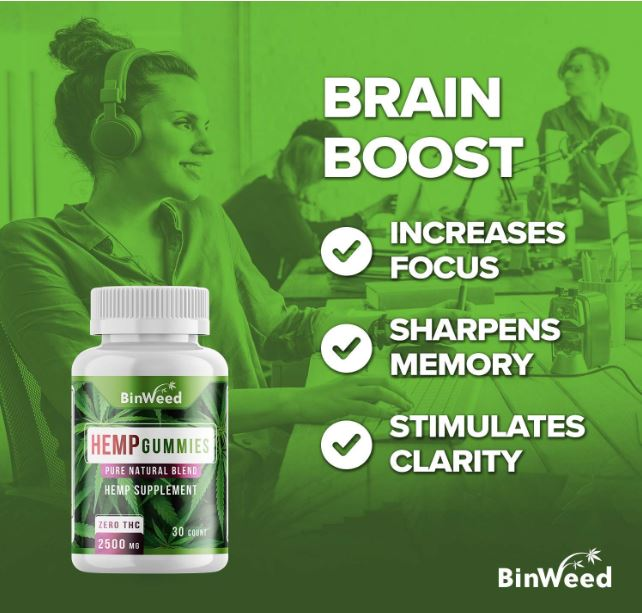 Binweed Hemp Gummies Brain Boost