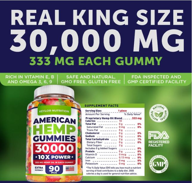Keylor Nutrition Hemp Gummies 2