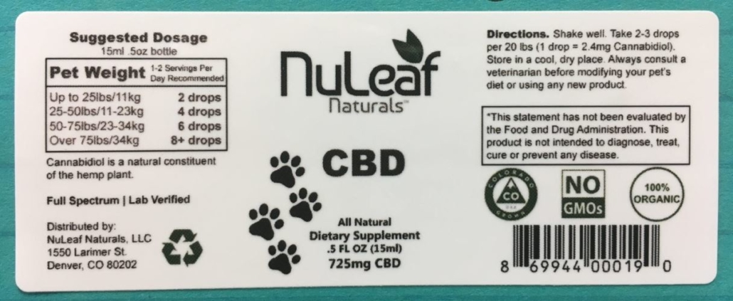 Nuleaf Naturals For Pets Wrapper