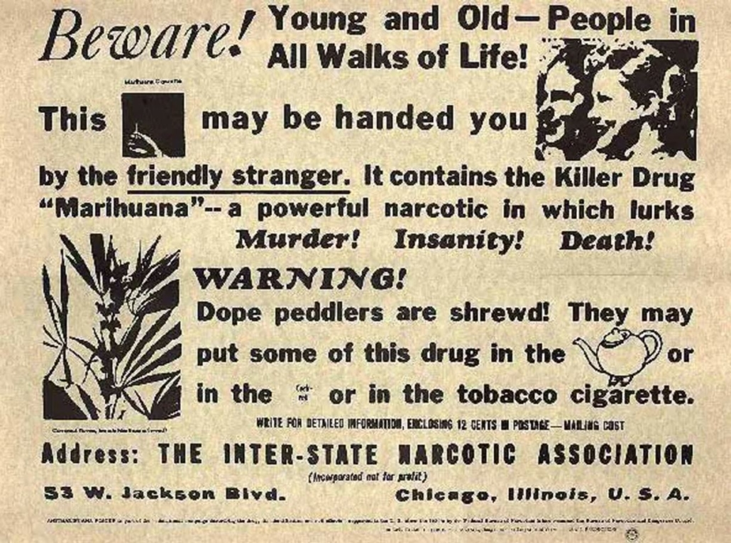 Marijuana Propaganda 1930s
